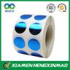 Alta calidad Blue Metallized DOT Sticker en Roll