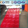 Красный застекленный лист Corrugated толя плитки стальной высокого качества