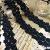 Оптовая продажа 4cm 100% шнурков вышивки хлопка в синем цвете