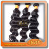 1b Natural Color 3A 인도 Loose Wave Remy Hair