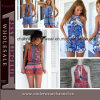 2015 nuovi vestiti all'ingrosso delle donne di modo più la tuta di formato (TONY8058)