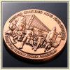 Barato crear la medalla en blanco común de la concesión para requisitos particulares del deporte del laurel del recuerdo del deporte de la guirnalda de la divisa de encargo del modelo
