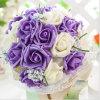 La seda disponible de los colores de la venta al por mayor 3 florece las rosas Wedding el ramo nupcial