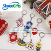 Creative Fashion Pendant Cartoon Acessórios chaveiro de PVC Keychain para presente promocional