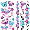 Tatuaje temporal del arte de la etiqueta engomada del tatuaje de la transferencia del agua del tatuaje de la mariposa