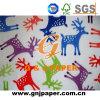 Papier de soie de soie estampé par logo personnalisé pour la vente en gros