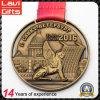 Il marchio su ordinazione della costruzione del vecchio oro 3D mette in mostra la medaglia del metallo del ricordo
