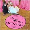 주문을 받아서 만들어진 디자인 튼튼한 풀 컬러 결혼식 지면 도표 전사술 스티커