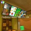대중음식점 간이 식품 맥주 표시를 위해 가벼운 상자를 가진 위원회를 광고하는 LED 메뉴 널