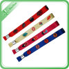 Wristband tejido festival de encargo barato del poliester para la promoción