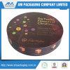Подгонянная коробка подарка шоколада UV печатание пятна круглая с вставкой 9 решеток пластичной