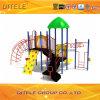89mm galvanisiertes Pfosten-buntes luxuriöses Bambusdach und umgewandelte Bogen-Bergsteiger-Kind-im Freienspielplatz-Gerät
