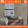 Papel de parede impermeável do papel de parede do damasco bonito para a casa