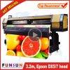 Impressora solvente de Funsunjet Fs-3202g Eco com duas cabeças 1440dpi para a impressão das bandeiras do cabo flexível