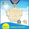Médaille en alliage de zinc de sport en métal de récompense d'or de métiers en gros en métal