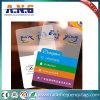 Cartão de sociedade transparente plástico do cartão da alta qualidade