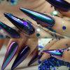 Colorant de vernis à ongles de scintillement de perle