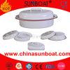 Roaster do esmalte da placa do cozimento do forno do prato de galinha de Sunboat
