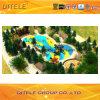de 114mm Gegalvaniseerde Post Kleurrijke Apparatuur van de Speelplaats van Luxueuze Kinderen Openlucht