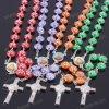 branelli di plastica Drilling del rosario del punto piano di 10mm, collana poco costosa del rosario