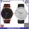 Hommes automatiques de montre de modèle simple de mode des montres de main de montre d'homme d'affaires de la mode Yxl-417 de cuir d'acier inoxydable des hommes colorés de quartz