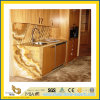 Stone naturale Polished Honey Onyx Marble Countertop per Kitchen/Bathroom (YQC)