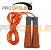 Cuerdas de salto de la manija del cojinete de plástico de las cuerdas del PVC de los productos de la aptitud (PC-JR1100)