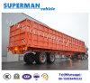 頑丈な半2つの車軸コンパートメント側面の貨物トラックのトレーラー13メートルの