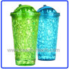 400ml Double Wall Plastic Ice Mug mit Straw (R-7031)