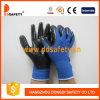 Голубой нейлон с черным нитрилом Glove-Dnn347