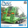 3개의 차축 50t Low Bed Container Semi Truck Trailer
