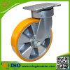 Hochleistungsaluminiumkern-Gelb PU-Schwenker-Fußrollen-Rad