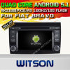 Carro DVD GPS do Android 5.1 de Witson para o bravo da AUTORIZAÇÃO com sustentação do Internet DVR da ROM WiFi 3G do chipset 1080P 16g (A5772)
