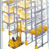 Movimentação industrial do armazenamento no racking