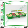 Présentoir acrylique d'entreposage de légumes de supermarché
