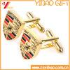 Cufflink металла высокого качества изготовленный на заказ золотистый (YB-cUL-12)
