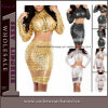 Abend-Parteifaux-Leder-Kleid der Fabrik-Dame-Sexy Vinyl (TP784)