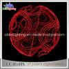 Выдвиженческий свет шарика света красной веревочки украшения рождества 3D 100cm