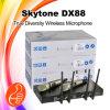 Véritable microphone de radio de diversité de la fréquence ultra-haute Dx88