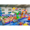 Corsa ad ostacoli gonfiabile dell'interno dell'accampamento di caricamento del sistema di corsa ad ostacoli del PVC dei bambini Inflatables/Military