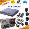 4 Channel DVR Kit with Sony 1200tvl Dome Camera