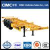 Cimc半3つの車軸骨組み容器のトレーラー