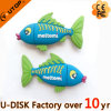 Vara tropical colorida do USB do PVC do costume dos peixes (YT-TF)