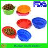 Cuvette de alimentation pliante de silicone pour l'animal familier (SY-GW-120)