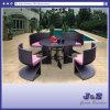 平らな柳細工のみょうばん表アーム椅子のテラスの屋外の庭の家具(J322)