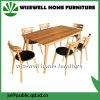 Muebles del comedor de madera de roble con la silla del asiento de 6 PU