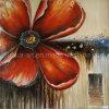 고품질 순수한 손으로 그리는 새로운 디자인 빨간 꽃 색칠 주문 유화 (LH-125000)