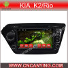 KIA K2/Rio (AD-8147)のためのA9 CPUを搭載するPure Android 4.4 Car DVD Playerのための車DVD Player Capacitive Touch Screen GPS Bluetooth