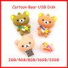 Movimentação do flash do USB do urso dos desenhos animados da memória Flash do USB Pendrive