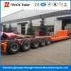 Semirimorchio del camion di Lowloader del rimorchio di Lowdeck del rimorchio di Lowbed dell'Cinque-Asse da 100 tonnellate